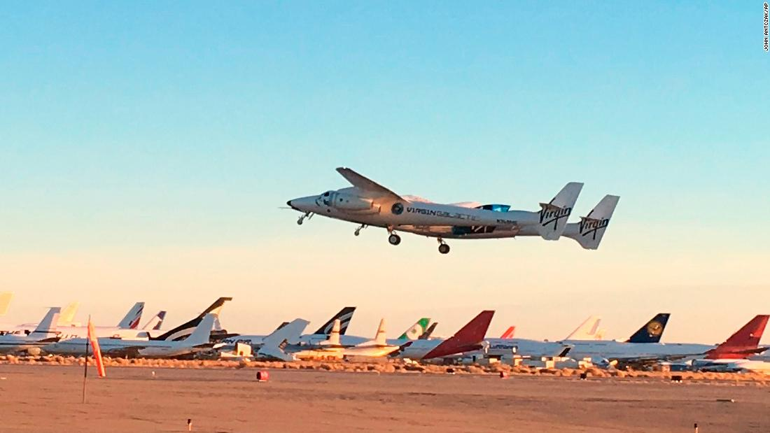 Virgin Galactic's supersonic plane reaches 50-mile line of space