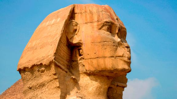 A picture taken on February 15, 2018 shows the head of the Giza Sphinx at the Giza pyramids complex, on the southwestern outskirts of the Egyptian capital Cairo. / AFP PHOTO / MARIO GOLDMAN        (Photo credit should read MARIO GOLDMAN/AFP/Getty Images)