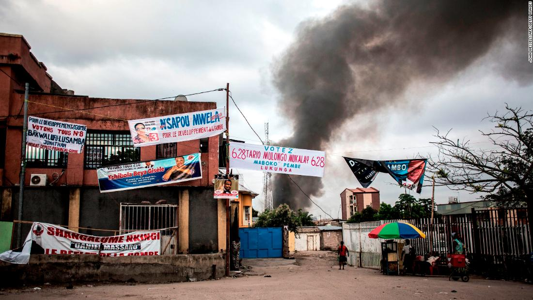 Fire destroys 8,000 voting machines 10 days ahead of Congo's presidential election