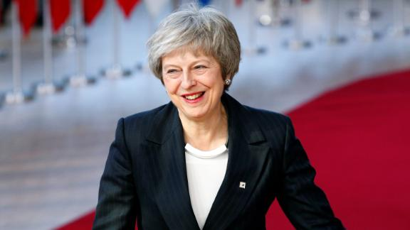 UK Prime Minister Theresa May arrives at the EU leaders