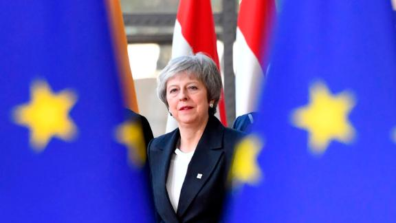 British Prime Minister Theresa May arrives for an EU summit in Brussels, Thursday, Dec. 13, 2018. EU leaders gather for a two-day summit, beginning Thursday, which will center on the Brexit negotiations. (AP Photo/Geert Vanden Wijngaert)