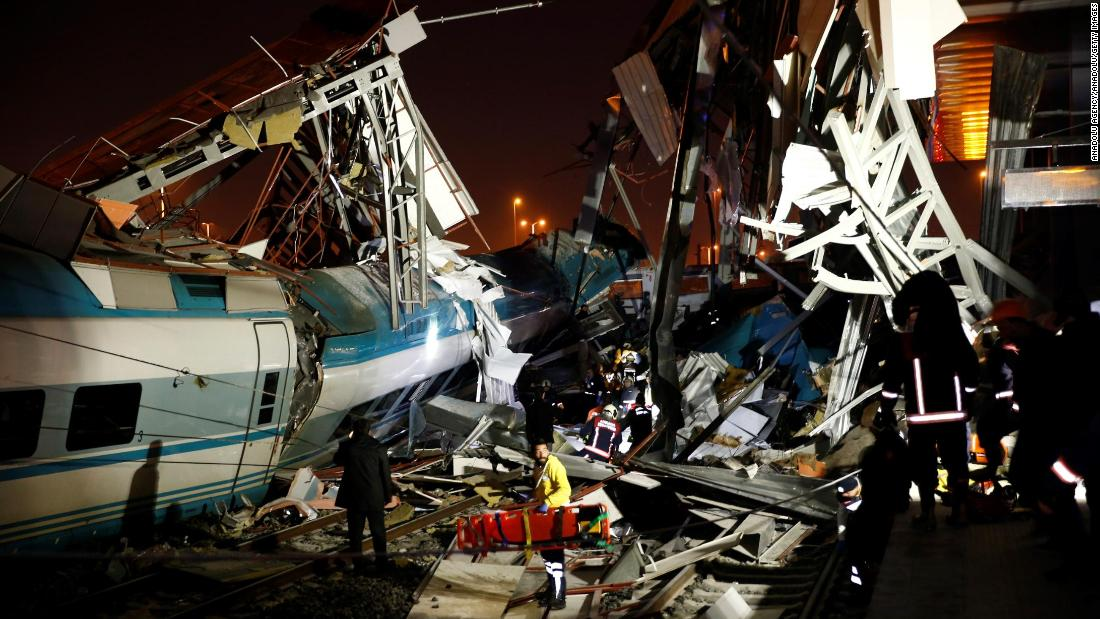 High-speed train crashes in Turkey, killing 9