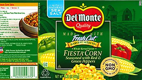 del monte recalls canned corn because of botulism risk cnn