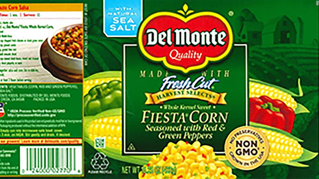 Del Monte recalls canned corn because of botulism risk