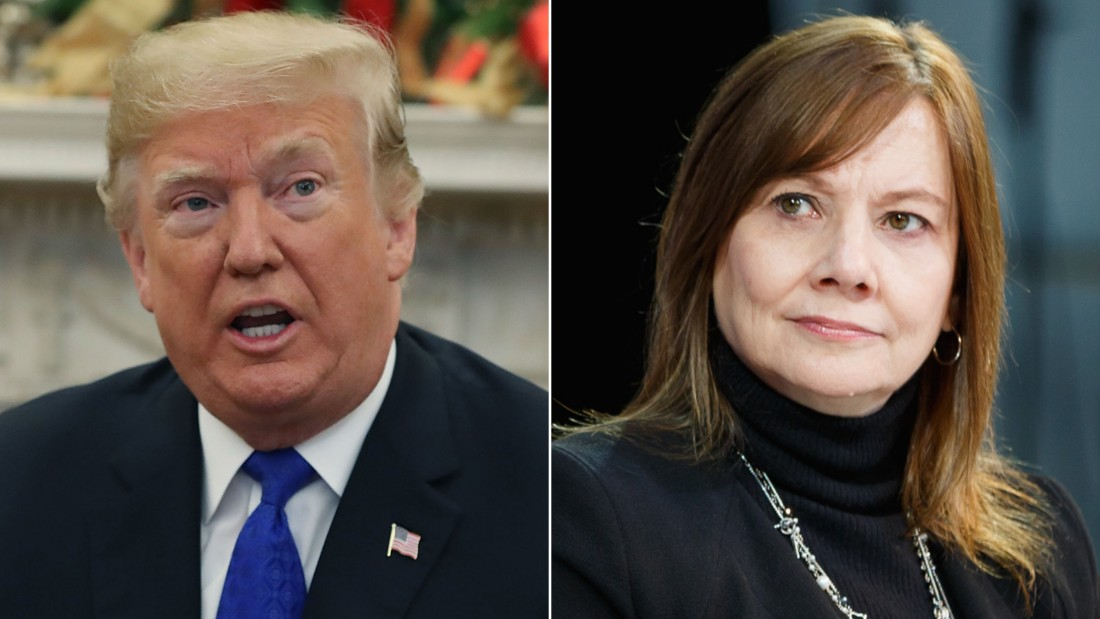 Trump says GM won't be treated well after layoffs