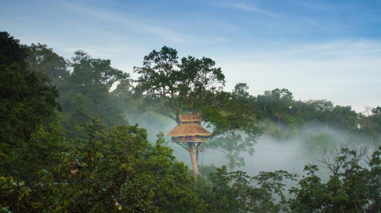 In Laos, spend the night in the world's tallest treehouses