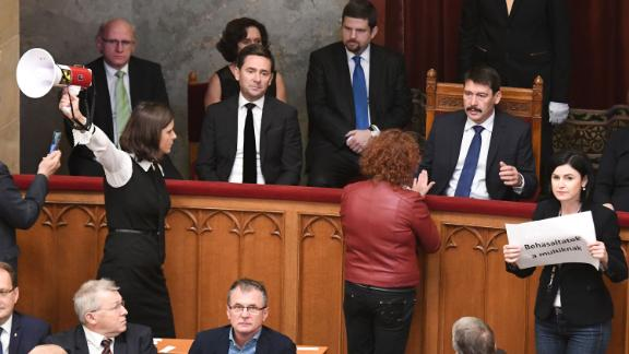 Opposition lawmakers protest in parliament after Wednesday