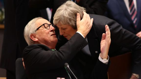 Theresa May is welcomed by Jean-Claude Juncker in Brussels on Thursday but her plea for help got short shrift.