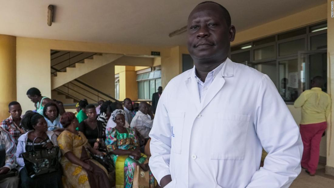 Alfred Andama, a doctor involved in the project, at Kiruddu General Hospital.