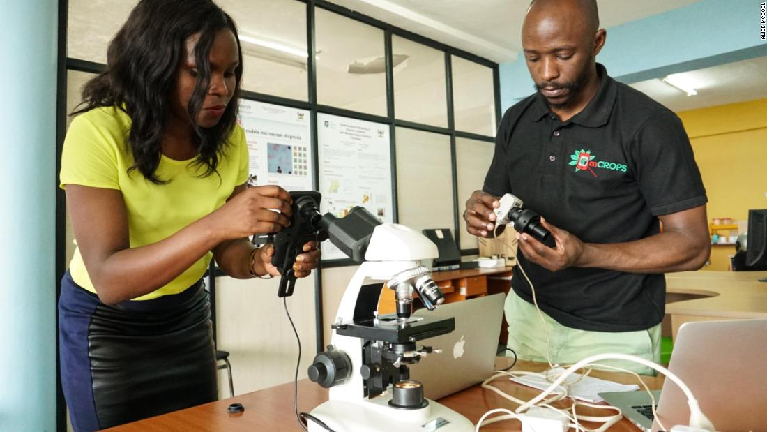 Rose Nakasi and Daniel Mutembesa at the Makerere AI Lab.
