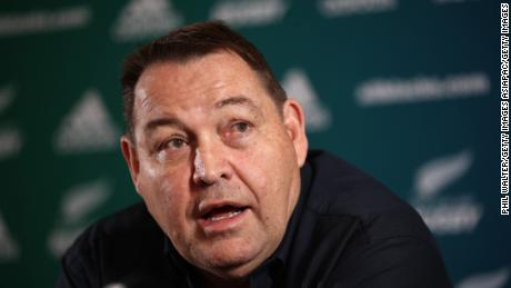 AUCKLAND, NEW ZEALAND - DECEMBER 14:  New Zealand All Blacks Head Coach Steve Hansen speaks to media at the Heritage Hotel on December 14, 2018 in Auckland, New Zealand. Hansen announced today that he would be stepping down as the All Black head coach following the 2019 Rugby World Cup.  (Photo by Phil Walter/Getty Images)
