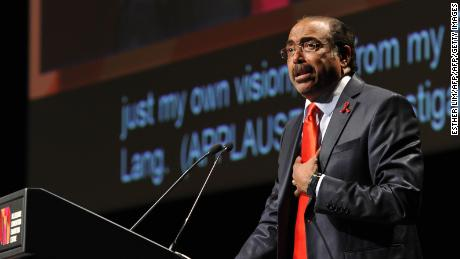 UNAIDS Executive Director Michel Sidibe speaking at a 2014 AIDS conference in Melbourne.