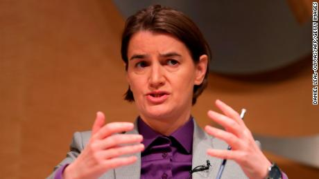 "Serbia's Prime Minister Ana Brnabic said Kosovo's decision to upgrade the KSF to an army would not contribute to ""cooperation, stability in the region."""