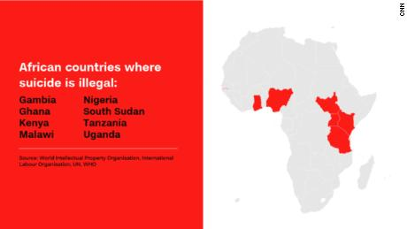 African countries where suicide is illegal