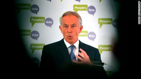 Tony Blair advocated a new referendum at a speech at the British Academy in London.