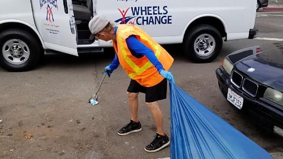 """The homeless are given money -- and access to city services -- when they work for """"Wheels of Change."""""""