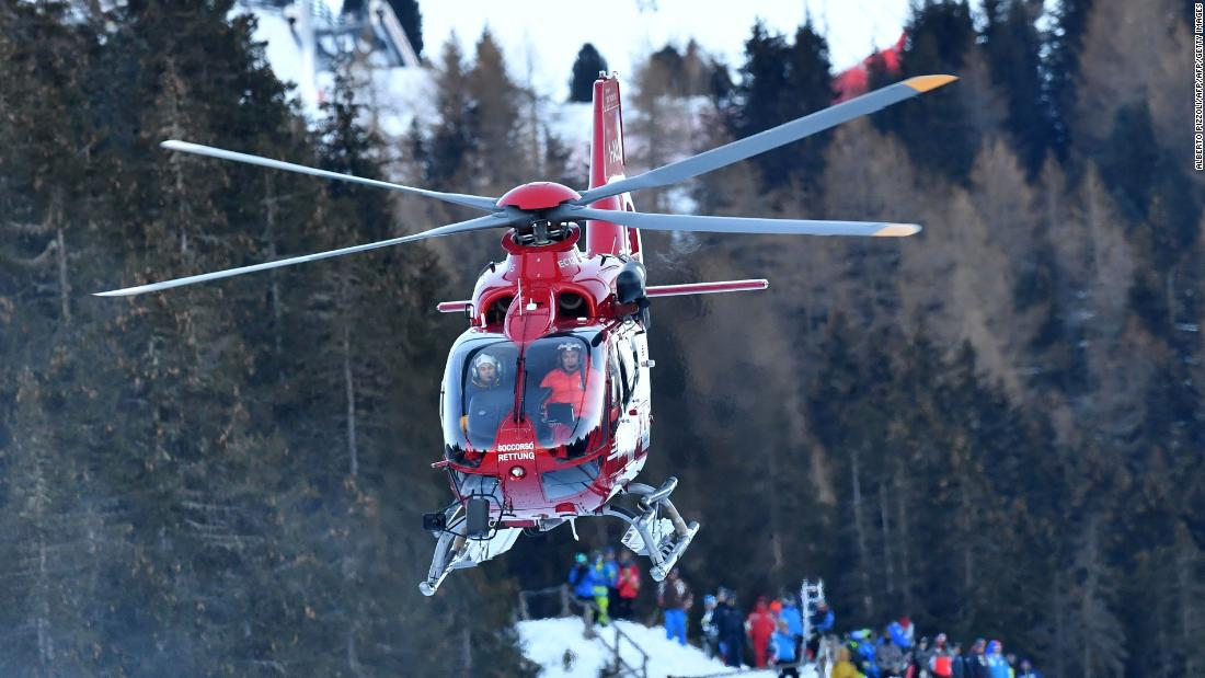 Swiss racer Marc Gisin in high speed crash