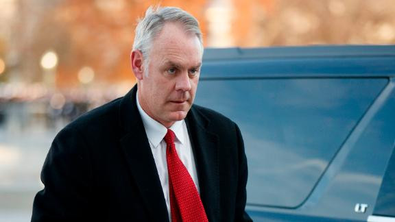 WASHINGTON, DC - DECEMBER 03:   US Secretary of the Interior Ryan Zinke arrives at the US Capitol prior to the service for former President George H. W. Bush on December 03, 2018 in Washington, DC. A WWII combat veteran, Bush served as a member of Congress from Texas, ambassador to the United Nations, director of the CIA, vice president and 41st president of the United States. A state funeral for Bush will be held in Washington over the next three days, beginning with him lying in state in the U.S. Capitol Rotunda until Wednesday morning. (Photo by Shawn Thew - Pool/Getty Images)