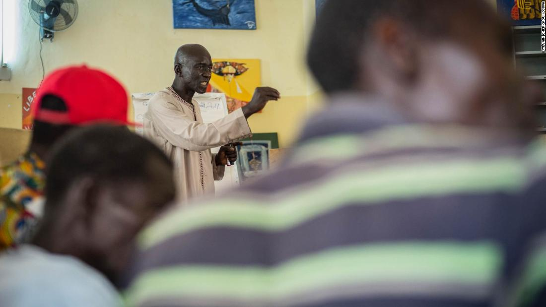 A former heroin user, Mustapha Mbodj, is now an outreach mediator for CEPIAD, located in Dakar, Senegal. The service available to addicts is rare in this part of the world.