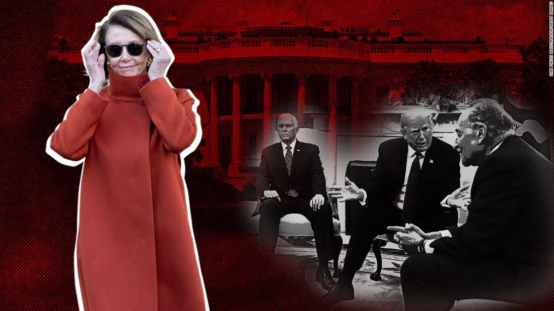 Nancy Pelosi's burnt orange coat wraps a fiery meeting - CNN image