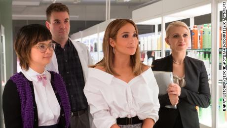 "Jennifer Lopez stars in ""Second Act"" with Charlyne Yi, Alan Aisenberg and Annaleigh Ashford."