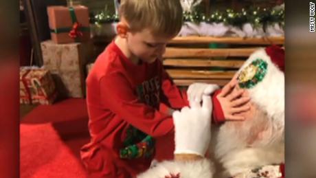8745a83916 Santa Claus surprises 6-year-old boy - CNN Video