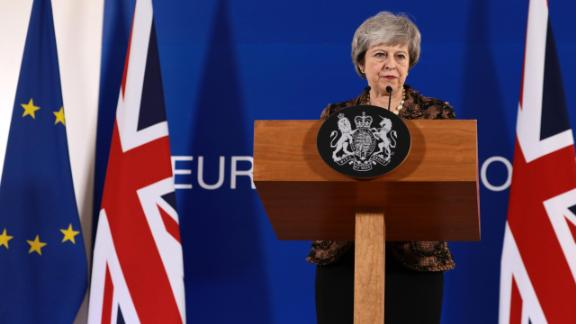 BRUSSELS, BELGIUM - DECEMBER 14: British Prime Minister Theresa May holds a press conference at the European Council during the two day EU summit on December 14, 2018 in Brussels, Belgium. Mrs May returned to the EU summit to secure greater assurances on the temporary nature of the Irish Backstop, in turn hoping to persuade MPs to vote her Brexit Deal through Parliament in the coming weeks. (Photo by Dan Kitwood/Getty Images)