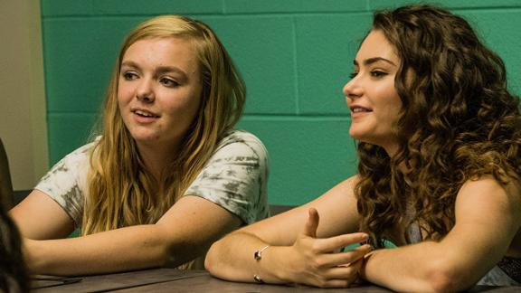 Emily Robinson and Elsie Fisher in 'Eighth Grade'