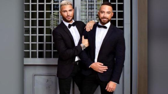 Matt Jacobi, right, and fiancé Nick Caprio want stores to carry doll wedding sets that represent the LGBT community.