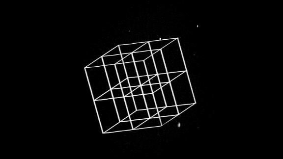 MIT engineers devised a way to create 3-D nanoscale objects by patterning a larger structure with a laser and then shrinking it. This image shows a complex structure prior to shrinking.