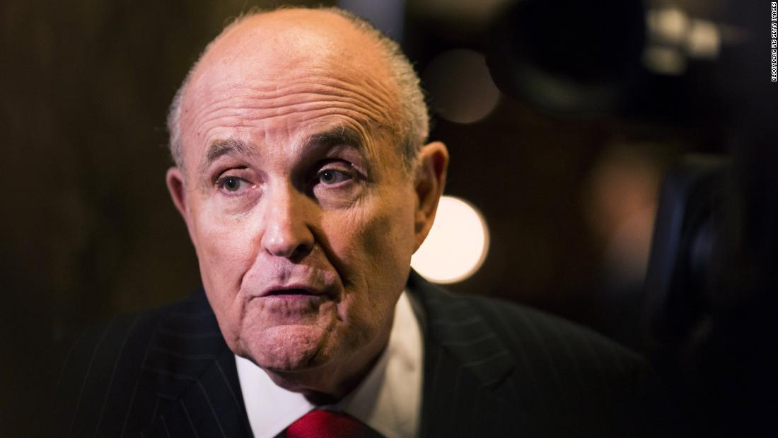 Giuliani says he met with Ukrainian official to discuss Biden