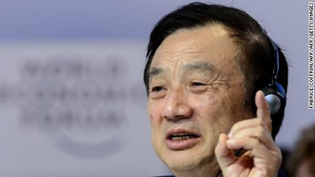 Ren Zhengfei at the World Economic Forum in Davos, Switzerland, in 2015. He has built Huawei into a company with annual revenue of more than $100 billion.