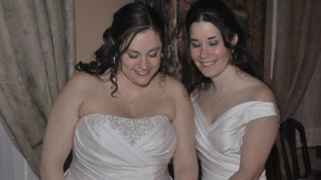 Dana, left, and Kristy Dumont got married in Vermont in 2011.