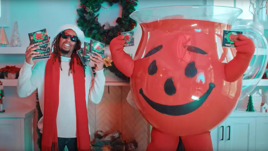 Lil Jon did a Christmas song with Kool-Aid Man and the holidays will never be the same