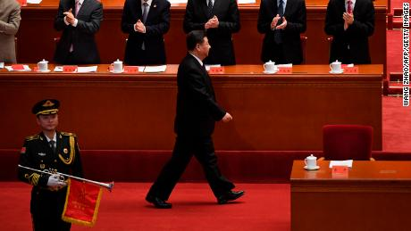 China's President Xi Jinping arrives at a ceremony celebrating the 40th anniversary of China's reform and opening in Beijing on December 18th.