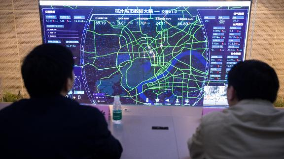 """Alibaba says its AI-driven """"City Brain"""" project in Hangzhou has improved traffic."""