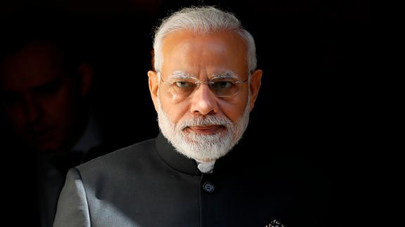 India's Prime Minister Narendra Modi seen in April 2018. His political party is looking increasingly weak ahead of a general election next year.