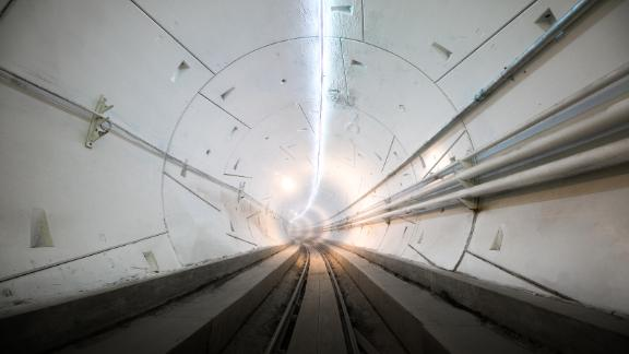 The Boring Company's 1.14-mile tunnel is designed to test new transportation technologies.