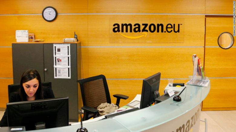 Amazon's offices are seen in Luxembourg in 2012.