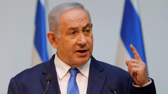 Israeli Prime Minister Benjamin Netanyahu speaking ahead of a UN Security Council meeting on Wednesday.