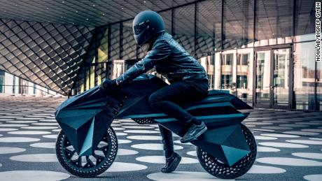 Electric 3D-printed motorbike provides a glimpse into the
