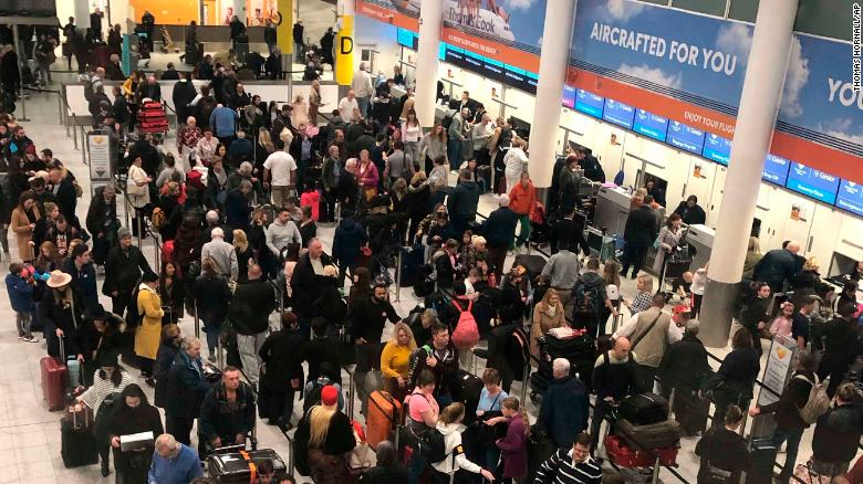 Chaos at UK airport as drones halt flights