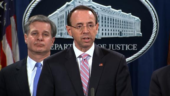 Deputy AG Rosenstein and FBI Dir Wray Presser