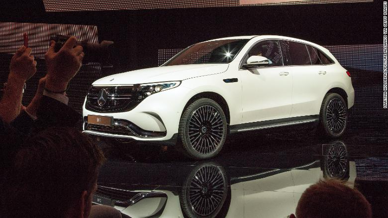 The Mercedes-Benz EQC will be the brand's first fully electric SUV.