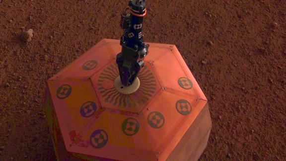 InSight placed the SEIS instrument, or seismometer, on the Martian surface on December 19. This is the first seismometer placed on another planet.