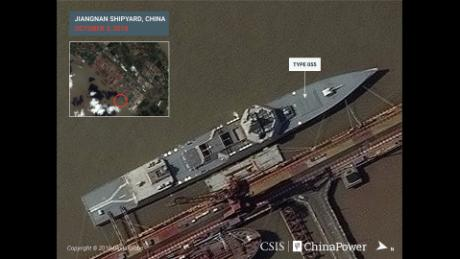 Major Chinese shipyard rapidly expands in size amid military buildup