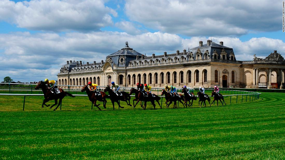 Spectacular and timeless, historic Chantilly sits in front of the 16th-century Chateau de Chantilly and the majestic Great Stables (pictured) amid forests 30 miles north of Paris.