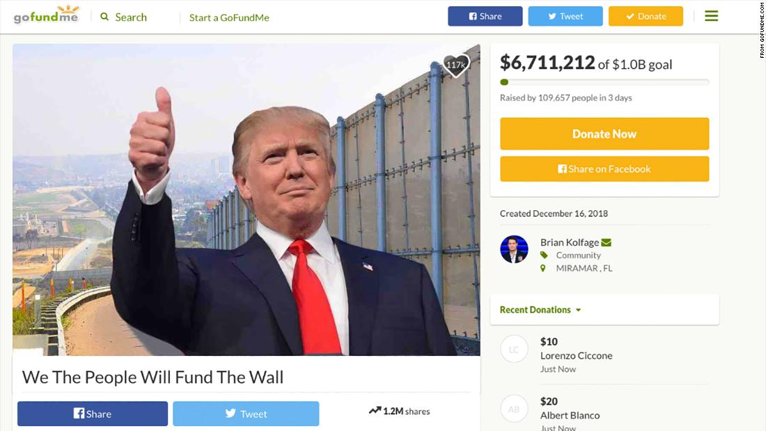 the border wall gofundme page sums up the trump presidency opinion cnn