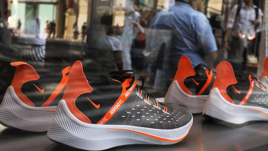 sports shoes 38d9f 6682a Investors exhale as Nike posts strong quarterly sales - CNN