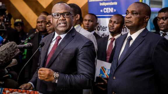 Corneille Nangaa, the head of the electoral commission, discusses the postponed elections.